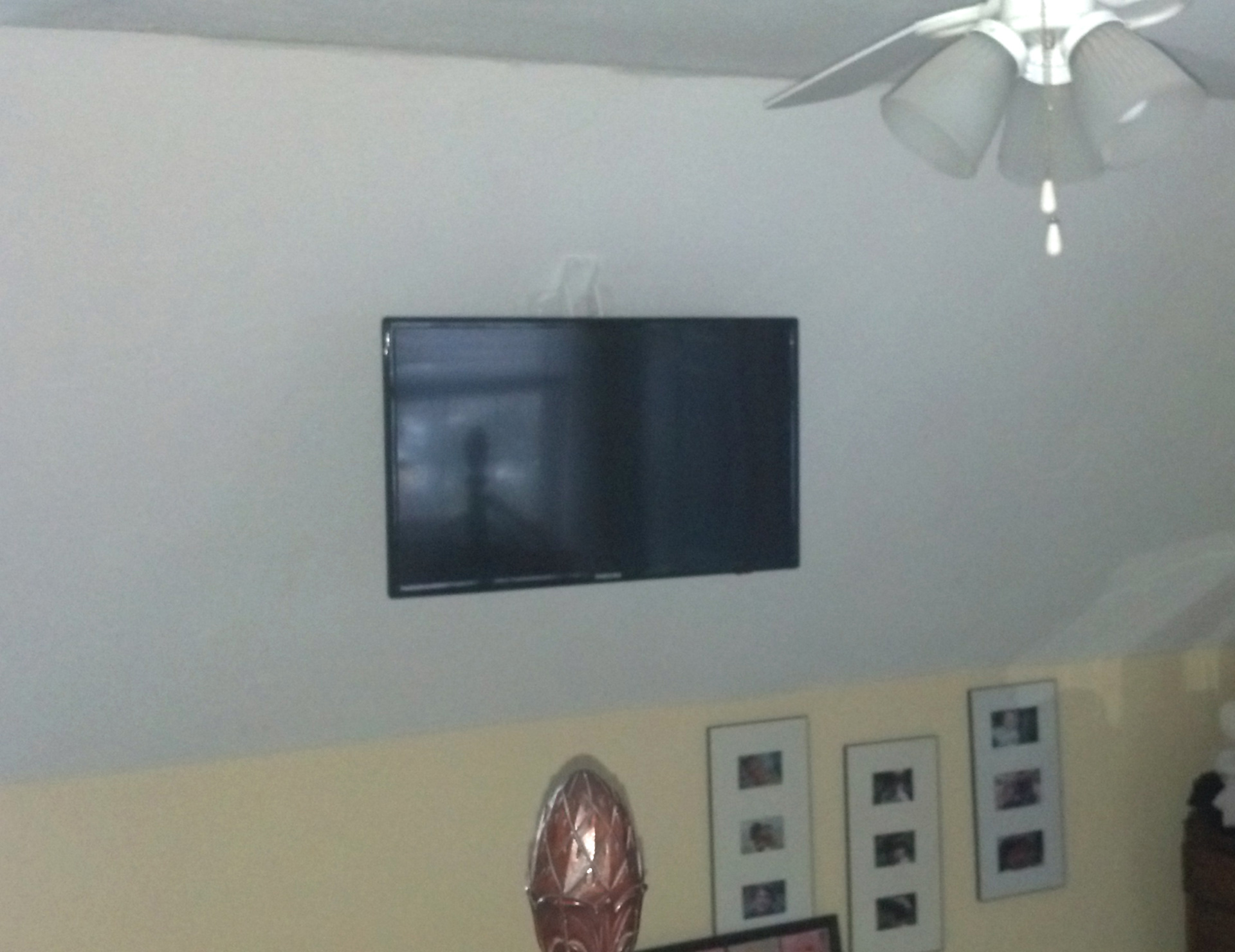 This Tv Would Have Been Fine Mounted On The Vaulted Ceiling But It Happen To Be In Footpath Of Teh Bedroom Soundwaves Created A Latching System That